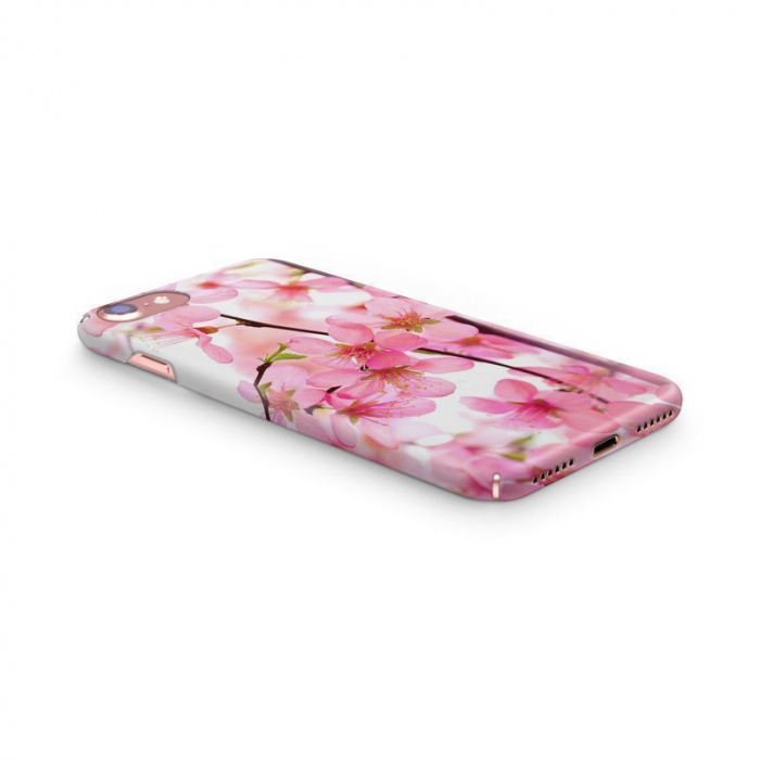 Husa iPhone 7 Custom Hard Case Pink Flowers 3