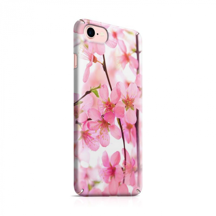 Husa iPhone 7 Custom Hard Case Pink Flowers 0