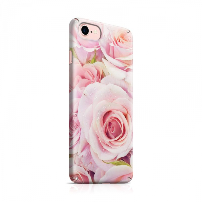 Husa iPhone 7 Custom Hard Case Pink Roses 0