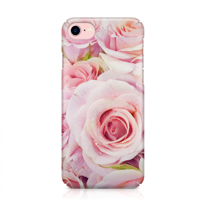 Husa iPhone 7 Custom Hard Case Pink Roses 1
