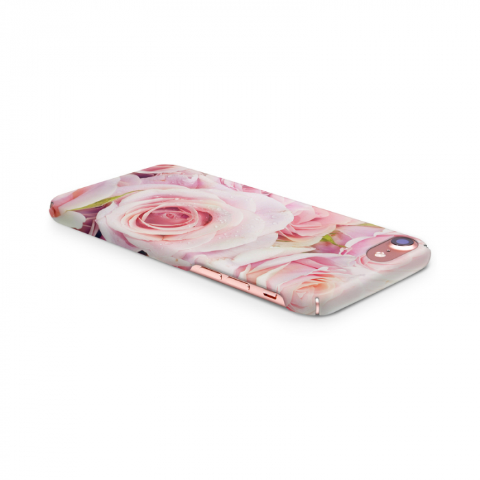 Husa iPhone 7 Custom Hard Case Pink Roses 3