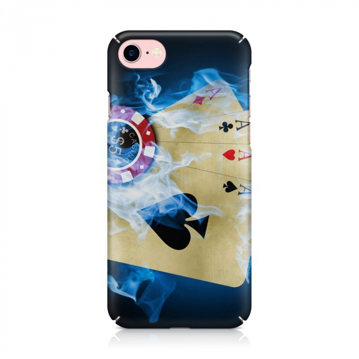 Husa iPhone 7 Custom Hard Case Poker Aces 1