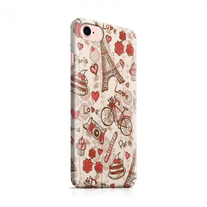 Husa iPhone 7 Custom Hard Love Paris 0