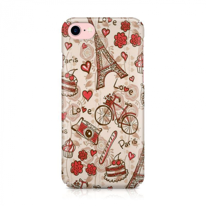 Husa iPhone 7 Custom Hard Love Paris 1