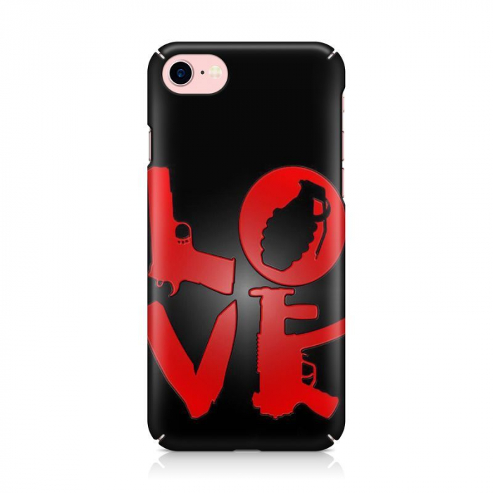 Husa iPhone 7 Custom Hard Case Love Weapons 1