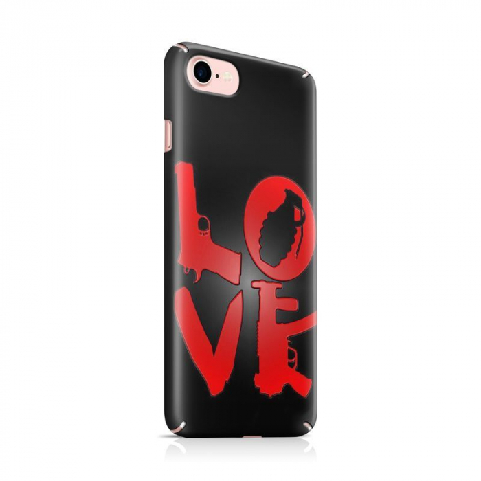 Husa iPhone 7 Custom Hard Case Love Weapons 0