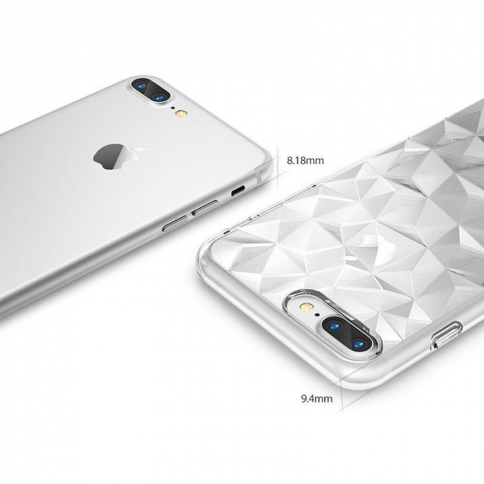 Husa iPhone 7 Plus / iPhone 8 Plus Prism Soft TPU - negru 4