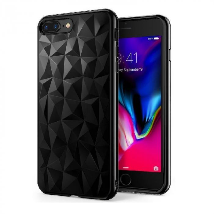 Husa iPhone 7 Plus / iPhone 8 Plus Prism Soft TPU - negru 0