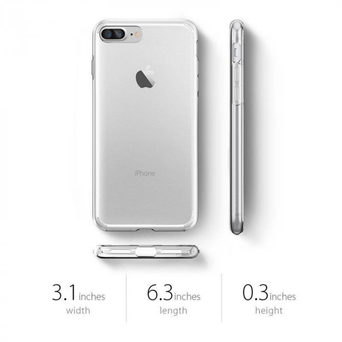 Husa iPhone 7 Plus / iPhone 8 Plus Soft TPU 0.8 mm - transparent 1