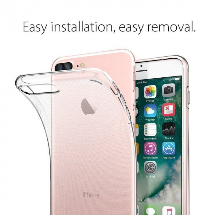 Husa iPhone 7 Plus / iPhone 8 Plus Soft TPU 0.8 mm - transparent 5