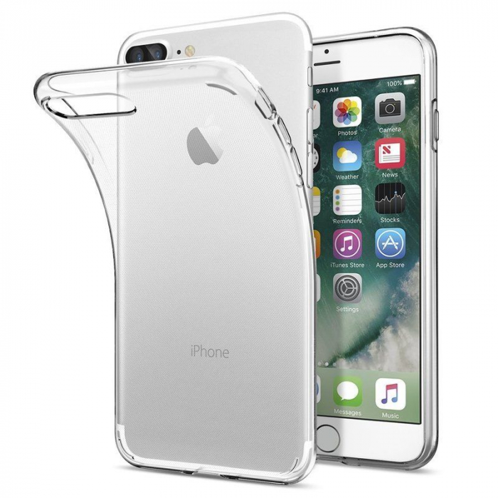 Husa iPhone 7 Plus / iPhone 8 Plus Soft TPU 0.8 mm - transparent 4