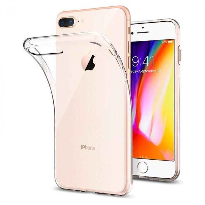Husa iPhone 7 Plus / iPhone 8 Plus Soft TPU 0.8 mm - transparent 0