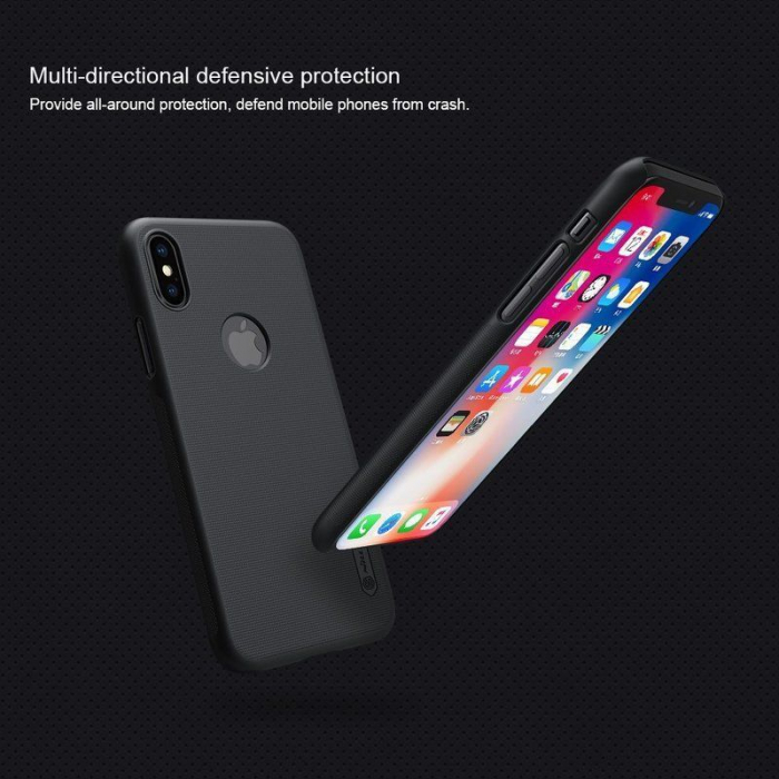 Husa iPhone X Nillkin Frosted Shield - gold 5