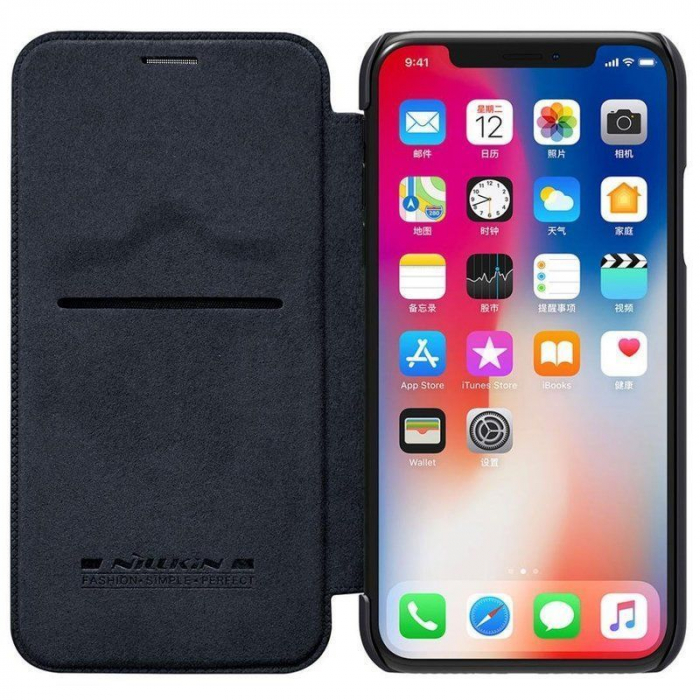 Husa iPhone X Nillkin Qin - negru 4
