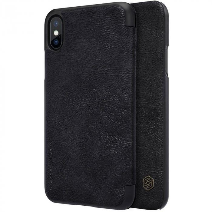 Husa iPhone X Nillkin Qin - negru 0