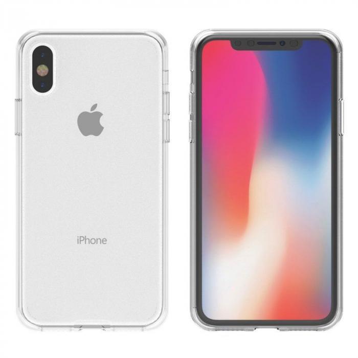 Husa iPhone X Silicon TPU 360 grade - transparent 3