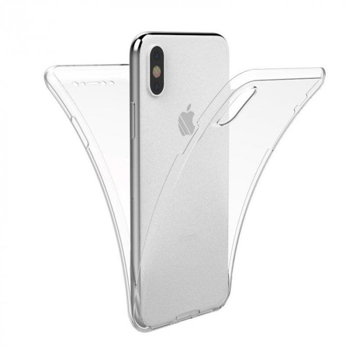 Husa iPhone X Silicon TPU 360 grade - transparent 0