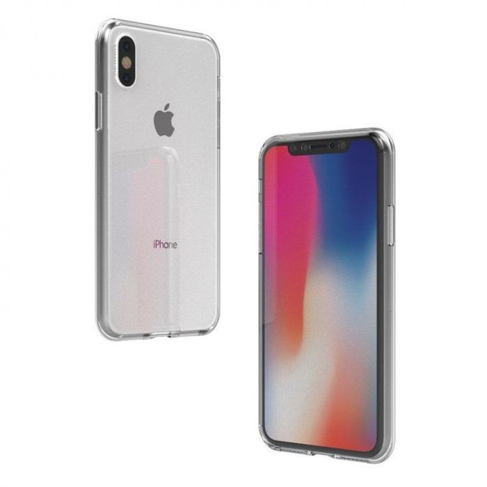 Husa iPhone X Silicon TPU 360 grade - transparent 7