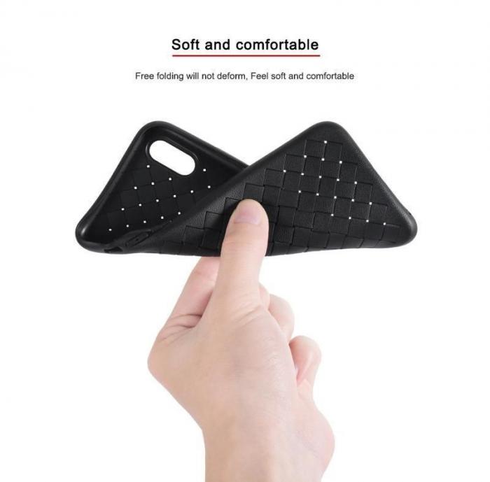 Husa iPhone X Weaving Pattern TPU  - negru 1