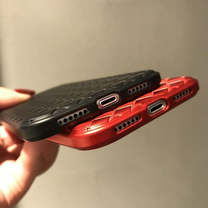 Husa iPhone X Weaving Pattern TPU  - negru 7