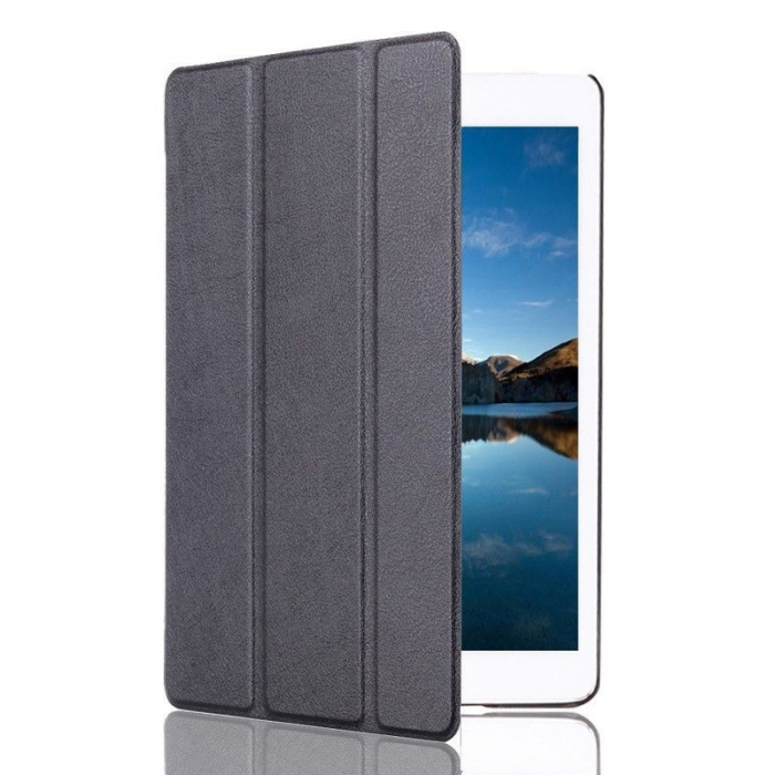Husa iPad Mini 4 Leather Smart Case Tri-fold Stand - negru 1
