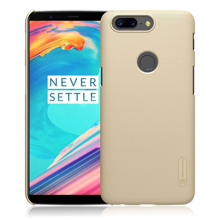 Husa OnePlus 5T Nillkin Frosted - gold 0