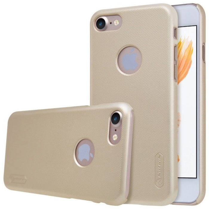 Husa  iPhone 7 - Nillkin Frosted Shield - gold 4
