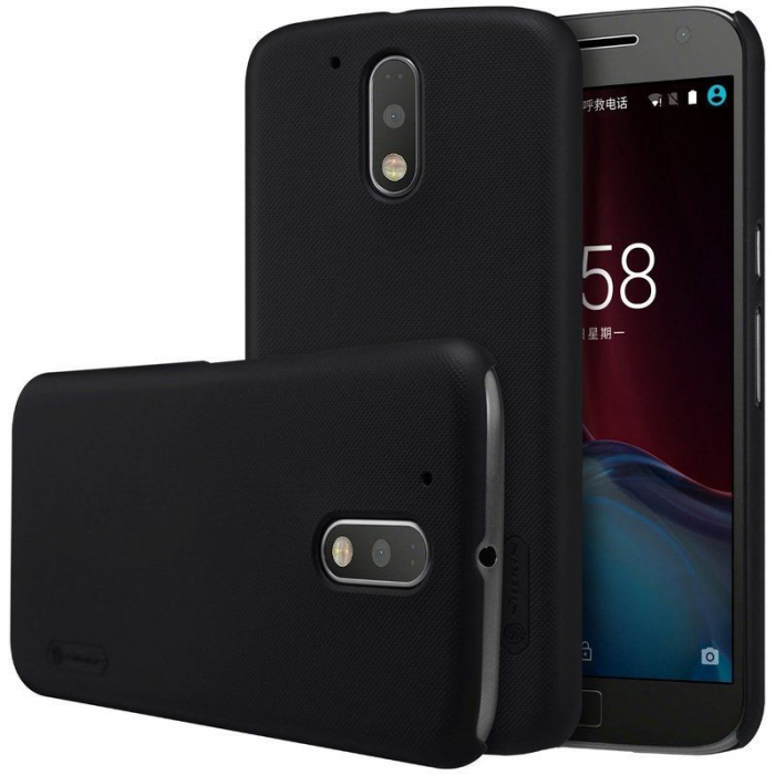 Husa Motorola Moto G4 Nillkin Frosted Shield - negru 3