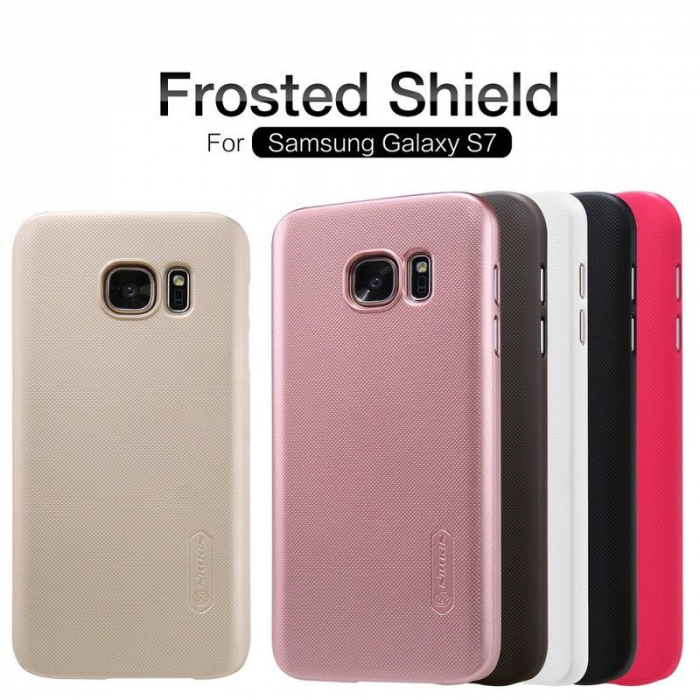 Husa Nillkin Frosted Shield Samsung Galaxy S7 - alb 6