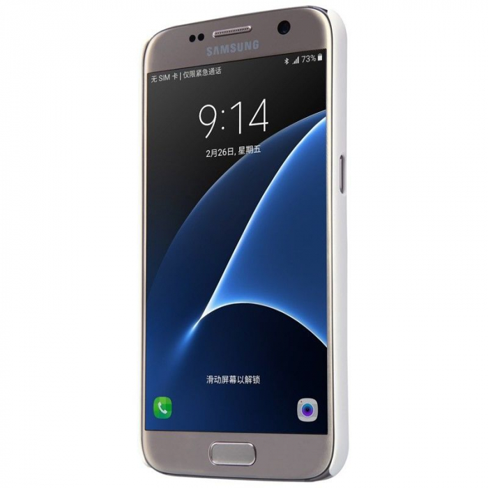 Husa Nillkin Frosted Shield Samsung Galaxy S7 - alb 3