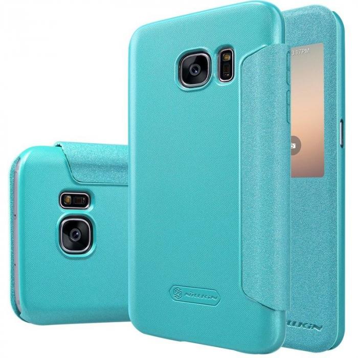 Husa Nillkin Sparkle Samsung Galaxy S7 - albastru 5