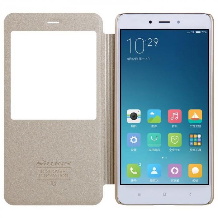 Husa Nillkin Sparkle Xiaomi Redmi Note 4 - gold 5