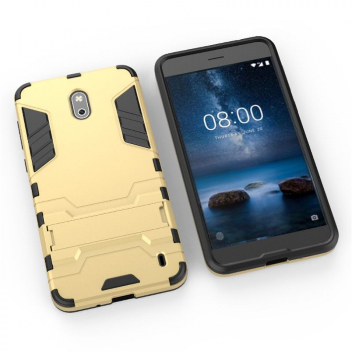 Husa Nokia 2 Hybrid Stand - gold 5