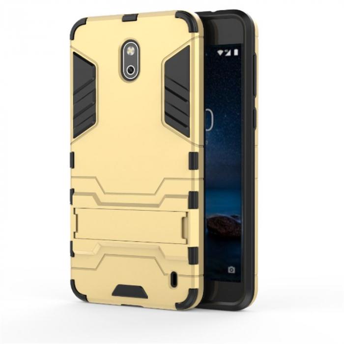 Husa Nokia 2 Hybrid Stand - gold 0