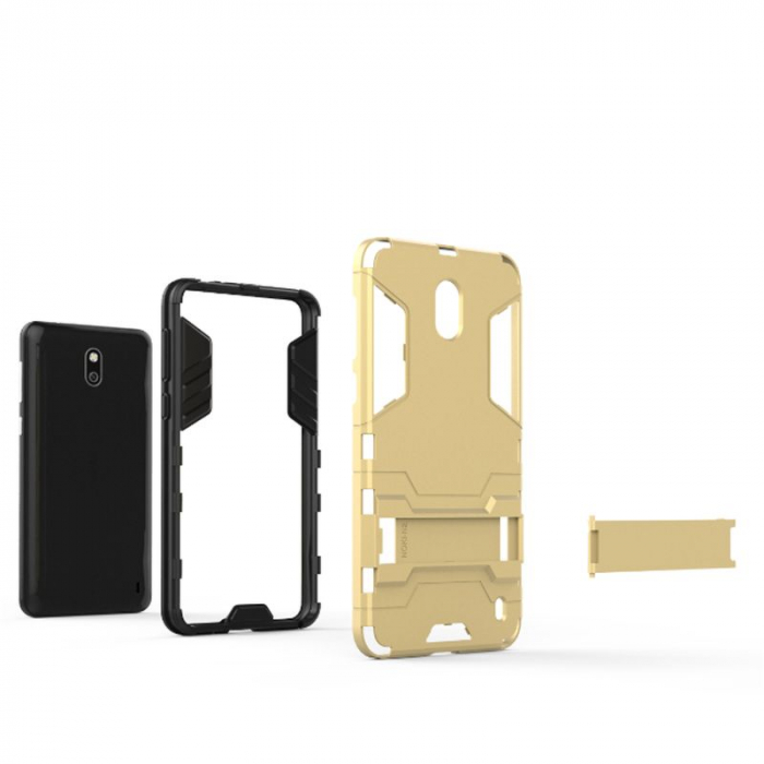 Husa Nokia 2 Hybrid Stand - gold 3