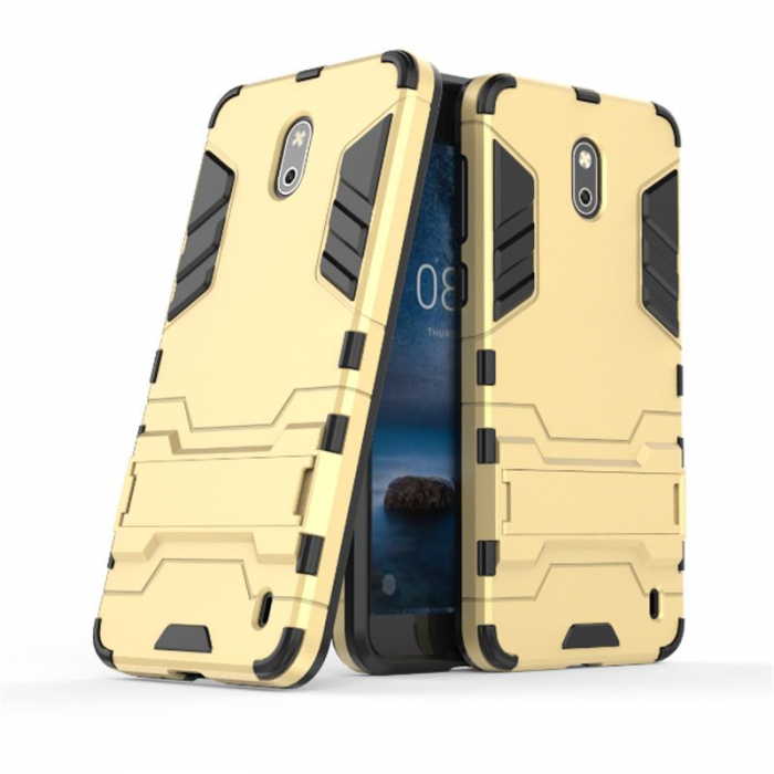 Husa Nokia 2 Hybrid Stand - gold 1