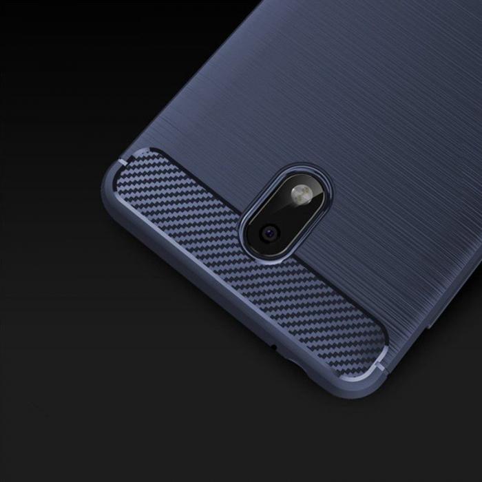 Husa   Nokia 2 Tpu Carbon Fibre Brushed - albastru 4