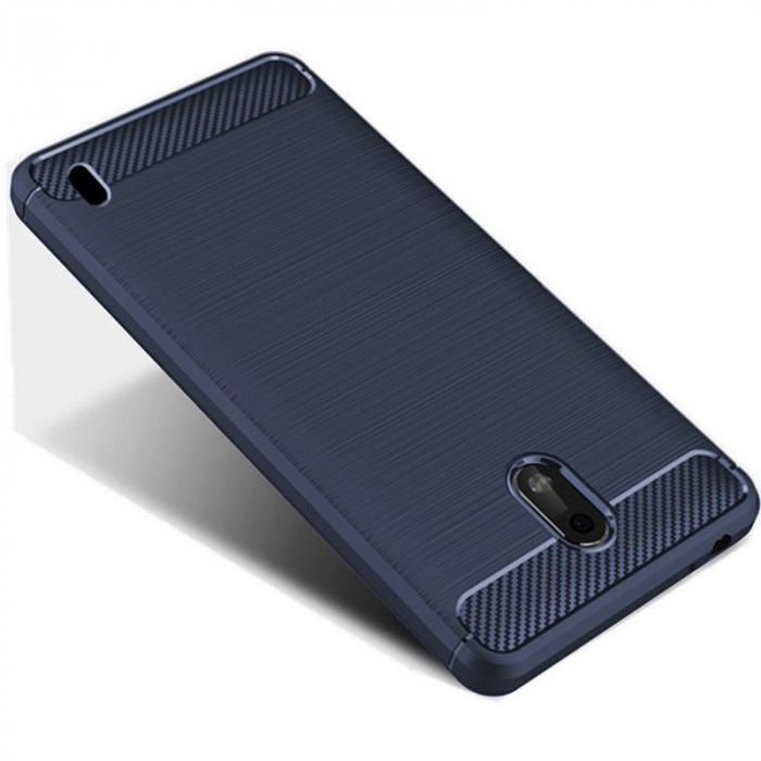 Husa   Nokia 2 Tpu Carbon Fibre Brushed - albastru 3