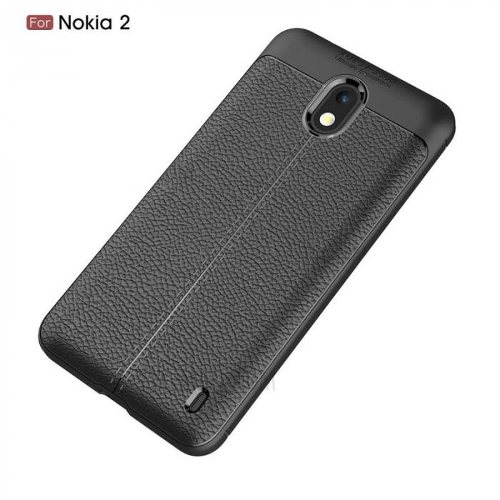 Husa Nokia 2 Tpu Grain - negru 1