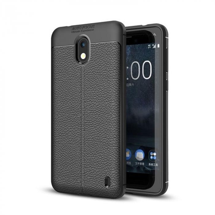 Husa Nokia 2 Tpu Grain - negru 0