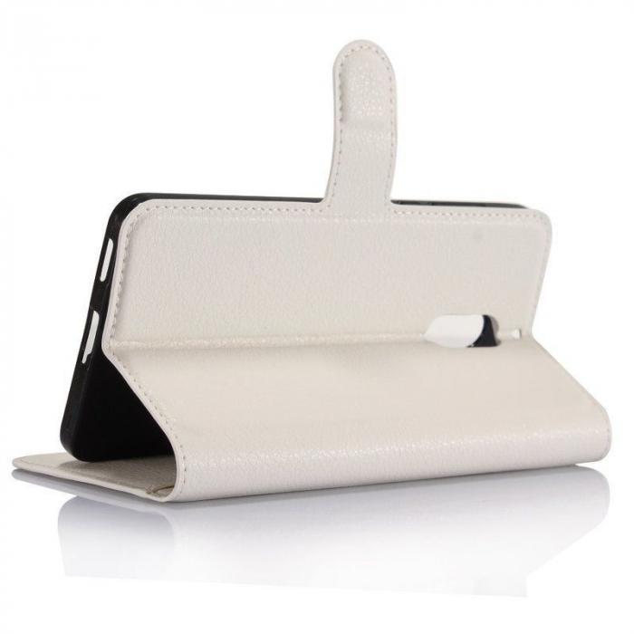 Husa Nokia 6 Crazy Horse Flip Book - alb 3