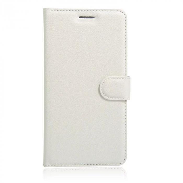 Husa Nokia 6 Crazy Horse Flip Book - alb 0