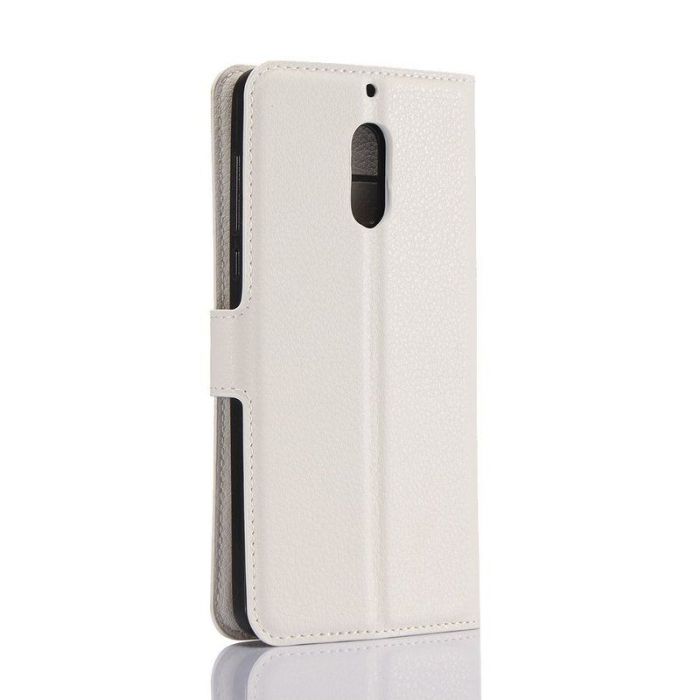 Husa Nokia 6 Crazy Horse Flip Book - alb 1
