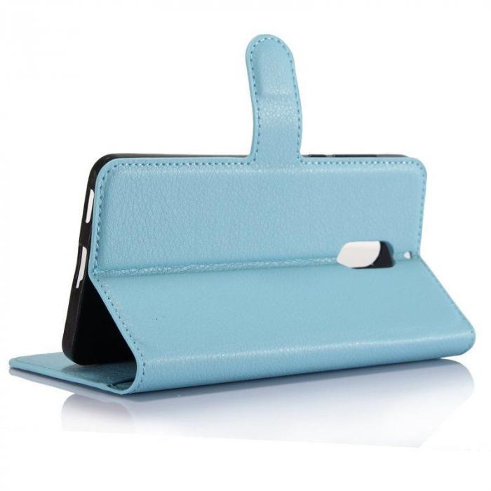 Husa Nokia 6 Crazy Horse Flip Book - albastru 2