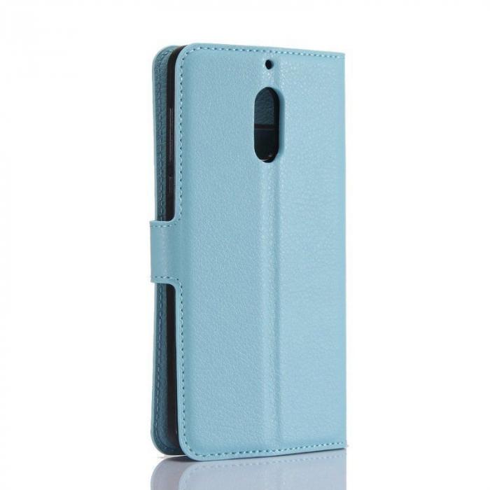 Husa Nokia 6 Crazy Horse Flip Book - albastru 1
