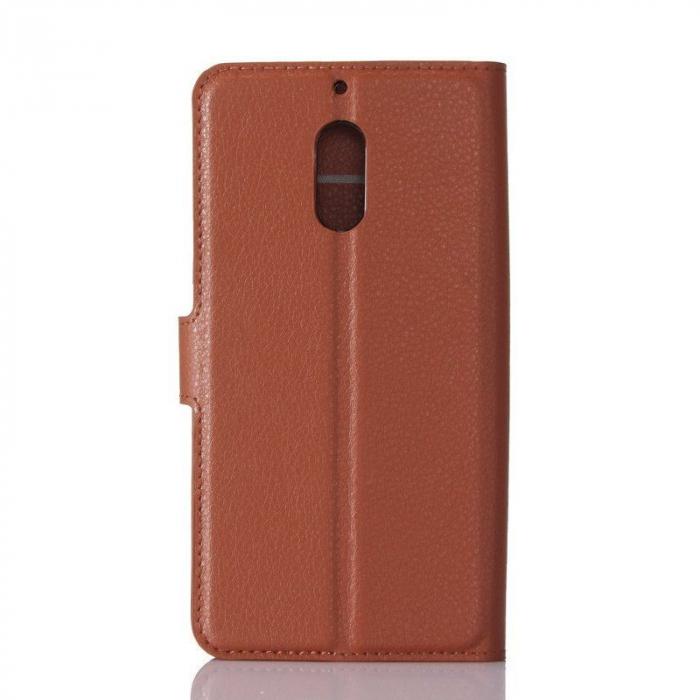Husa Nokia 6 Crazy Horse Flip Book - maro 1