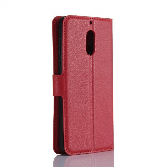 Husa Nokia 6 Crazy Horse Flip Book - rosu 1
