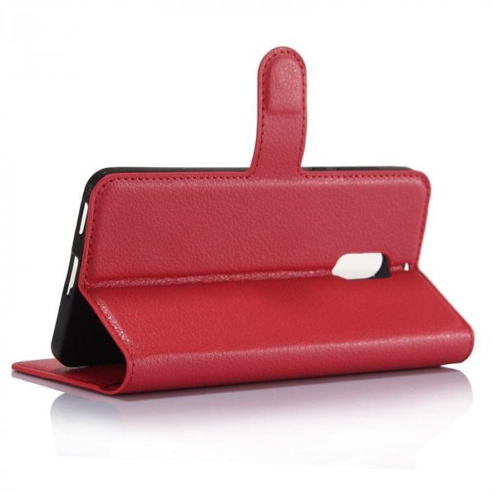 Husa Nokia 6 Crazy Horse Flip Book - rosu 2