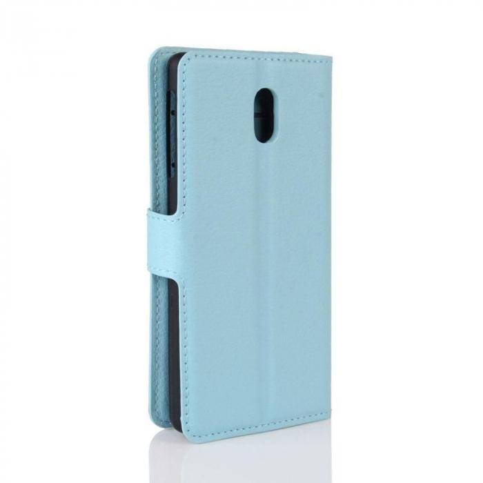 Husa   Nokia 3 Crazy Horse flip din piele eco - alb 3