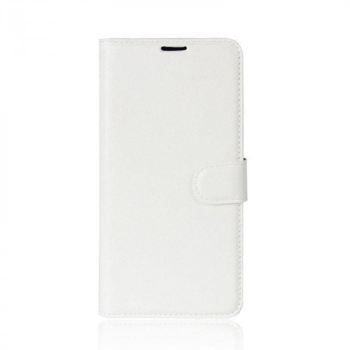 Husa   Nokia 3 Crazy Horse flip din piele eco - alb 0